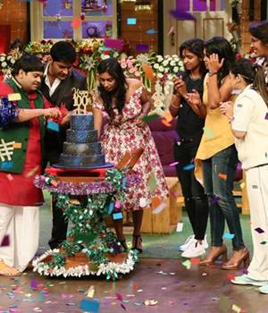 The Kapil Sharma Show celebrates its first birthday this Sunday. The show has completed 100 episodes and the team celebrated the occasion with Indian women cricket team members--Mithali Raj, Harmanpreet Kaur, Veda Krishnamurthy and Jhulan Goswami.