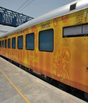 Minister of Railways Suresh Prabhu posted photos of new train Tejas. The new state-of-art Tejas is capable of running at 200 kmph. It has modern facilities like automatic doors, LED lights, infotainment screens, and has comfortable seats.