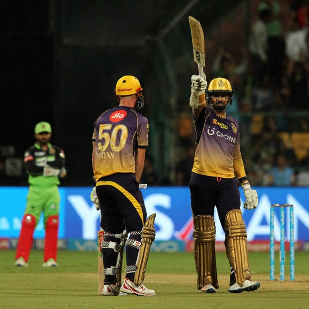 IPL 2017, Sunil Narine, Chris Lynn, RCB vs KKR