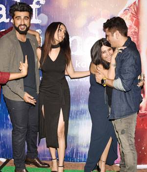 Half Girlfriend, starring Arjun Kapor and Shraddha Kapoor, has crossed the Rs 50-crore mark at the box office. The Half Girlfriend team got together last night to celebrate the success of their film.