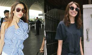 While Malaika Arora was looking sizzling hot at the airport, Anushka Sharma was rocking her new haircut in Mumbai.