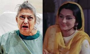 Geeta Kapoor now (L) and in a still from Pakeezah