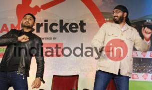 Harbhajan Singh and Monty Panesar had a Singh & Singh session and in the candid moments of the session they sang and then danced on the song Singh is King.