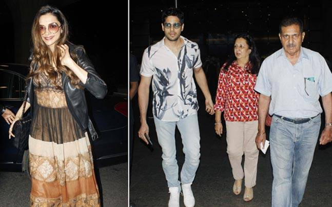 If Deepika Padukone is on her way to Cannes, actor Sidharth Malhotra is busy spending some time with his parents.