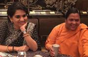 Shaina Nana Chudasama and Uma Bharti at India Today Editors' Roundtable