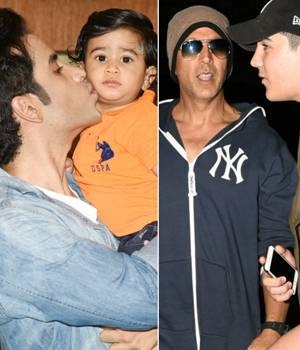 Tusshar Kapoor recently celebrated the first birthday of his son Laksshya. On the other hand, Akshay Kumar and his son Aarav were seen leaving for Florida.