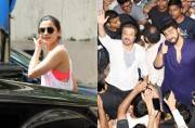 While Alia Bhatt was spotted at the gym, Anil Kapoor and Arjun Kapoor watched Mubarakan with fans.