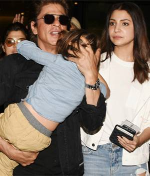 AbRam was exhausted by the time he returned from Abu Dhabi, where his father, Shah Rukh Khan, and Anushka Sharma were busy promoting their film. Kriti Sanon and Ayushmann Khurrana gatecrashed a wedding to promote their film Bareilly Ki Barfi.