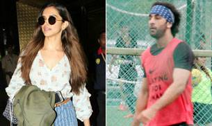 If Deepika Padukone returned to Mumbai after spending a few days with her parents in Bengaluru, her ex-boyfriend Ranbir Kapoor was spotted practising for soccer match.