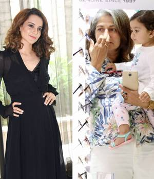 If Kanagana Ranaut has begun promoting her upcoming film Simran, Shahid Kapoor's daughter is busy shopping with her grandmom.