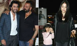 If Ranbir Kapoor and Sanjay Dutt were present at the trailer launch of Bhoomi, Aishwarya Rai Bachchan and daughter Aaradhya Bachchan were spotted at Mumbai airport.