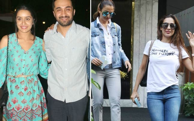 If Shraddha Kapoor and brother Siddhanth Kapoor were spotted at the screening of their upcoming film Haseena Parkar, Malaika Arora and sister Amrita Arora were seen on a lunch date.