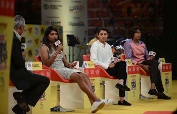 Veda Krishnamurthy, Smriti Mandhana and Jhulan Goswami shared their experience of their cricketing journey at the India Today Mind Rocks 2017 in New Delhi.