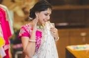 Niti Taylor and Bengali actress Ritabhari Chakraborty shot for Aajtak's Saas Bahu Aur Betiyaan Durga Pooja Shoot in Kolkata. Check out pics.