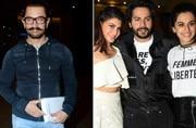 Aamir Khan travels in style, Varun-Jacqueline-Taapsee promote Judwaa 2 in full swing