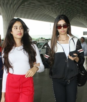 While Jhanvi and Khushi Kapoor were clicked at the airport, Sanjay Dutt and Aditi Rao Hydari were seen promoting Bhoomi.