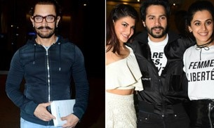 Aamir Khan looked his stylish best at the Mumbai airport, while Varun Dhawan, Jacqueline Fernandez and Taapsee Pannu were in the capital to promote Judwaa 2.