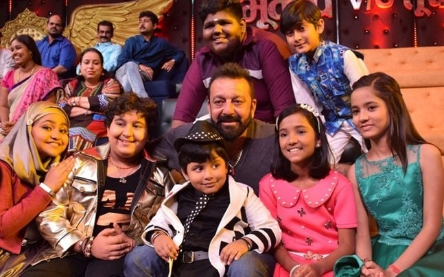 Sanjay Dutt had loads of fun with the little ones on the sets of Sa Re Ga Ma Pa Li'l Champs.