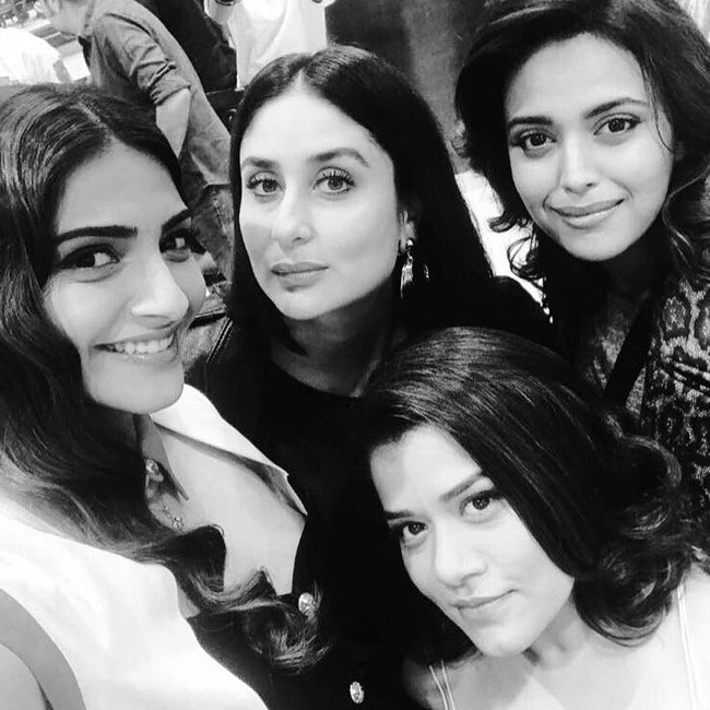 Kareena Kapoor Khan and Sonam Kapoor's much-awaited film Veere Di Wedding has finally kicked off. The film, which was announced last year, had to be pushed due to Kareena's pregnancy. But producer Rhea Kapoor's girl gang is finally on the film sets.