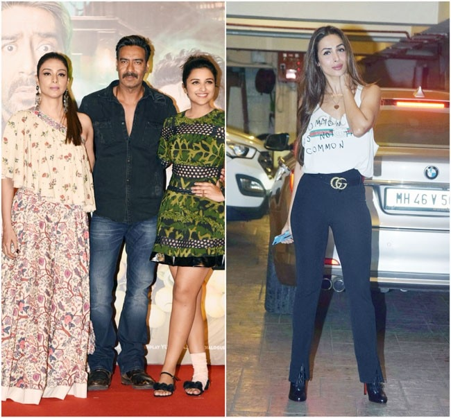 After months of wait, the much-awaited trailer of Rohit Shetty's Golmaal Again is out. And Ajay Devgn, Parineeti Chopra along with Tabu were seen at the trailer launch. On the other hand, Malaika Arora upped the style quotient at friend Kareena Kapoor Kha