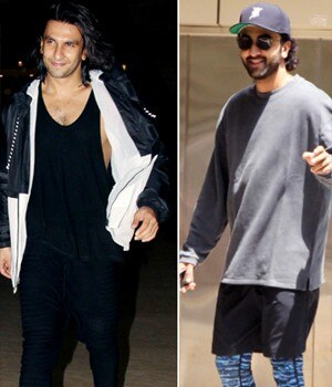After almost a year, Ranveer Singh bid adieu to his Padmavati look. On the other hand, his friend Ranbir Kapoor was seen prepping up for Ayan Mukerji's Dragon.