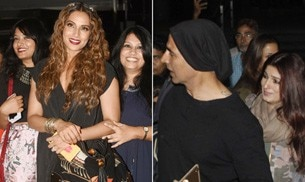 If Akshay Kumar and wife Twinkle Khanna returned to Mumbai after ringing in Khilaid Kumar's birthday in the Alps, Bipasha Basu was spotted on a dinner date with her sisters.