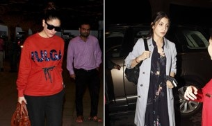 Kareena Kapoor Khan and Anushka Sharma were snapped at the airport among a host of other celebrities while Krrish 3 co-stars Kangana Ranaut and Vivek Oberoi reunited for an event.