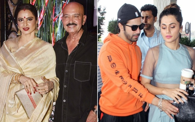 Filmmaker Rakesh Roshan's 68th birthday bash was a star-studded affair. From Rekha to Rishi Kapoor to Yami Gautam, many B-Town celebs came to wish him on his special day. On the other hand, Varun Dhawan and his Judwaa 2 co-star Taapsee Pannu took off to