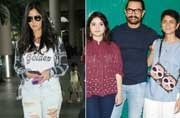 If Salman Khan and Katrina Kaif returned to Greece after shooting for Tiger Zinda Hai, Aamir Khan was spotted with Zaira Wasim and Kiran Rao at the success bash of Secret Superstar.