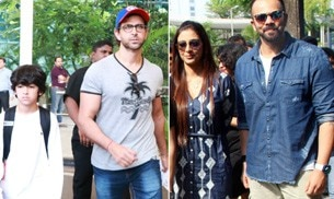 Hrithik Roshan and Sussanne Khan, who were in Goa with kids to ring in Diwali, returned to Mumbai recently. On the other hand, Rohit Shetty and Golmaal Again team is busy basking in the success of the film at the box office.