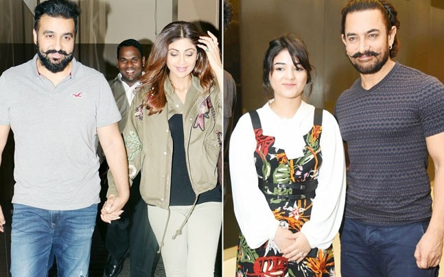 If Shilpa Shetty and husband Raj Kundra were spotted on a movie date, Aamir Khan was seen with co-actor Zaira Wasim during the promotion of Secret Superstar.