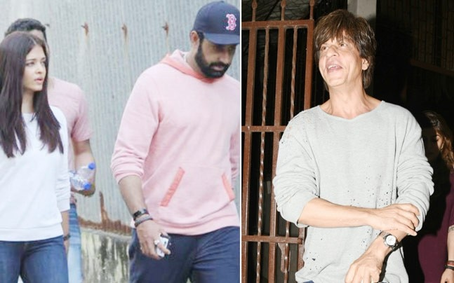There was a fire in the building where Aishwarya Rai Bachchan's mother stays, and the actress rushed to the spot with hubby Abhishek Bachchan. Meanwhile, Shah Rukh Khan was all smiles for the cameras outside Shankar Mahadevan's recording studio.