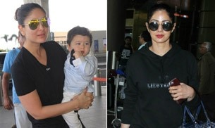 Kareena Kapoor Khan and Taimur were on their way to Delhi, for the shoot of Veere Di Wedding. Meanwhile, Sridevi returned to Mumbai from Bengaluru.