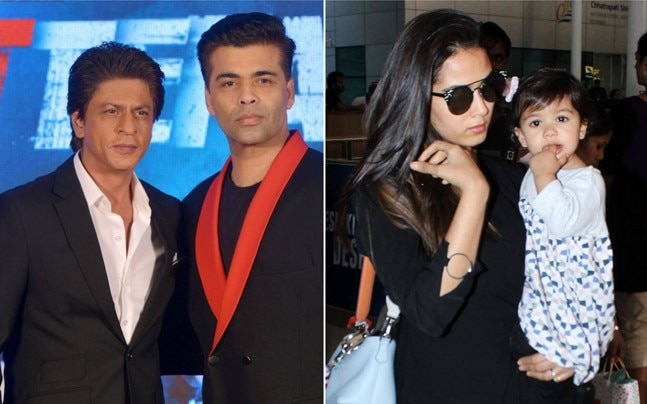 If Shah Rukh Khan joined friend and producer Karan Johar at the promotion of upcoming film Ittefaq, Shahid Kapoor along with wife Mira Rajput and daughter Misha Kapoor returned to Mumbai.