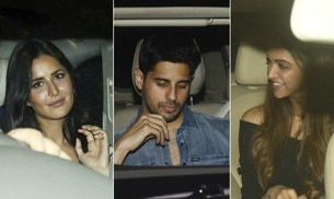Deepika Padukone and Katrina Kaif might have avoided each other at SRK's birthday bash, but the two ladies did come together for the screening of Karan Johar's Ittefaq.