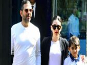 Karisma Kapoor and ex-husband Sunjay Kapur's day out with son Kiaan