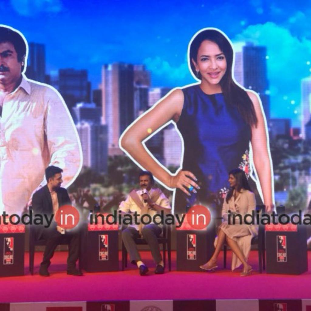 Mohan Babu and Lakshmi Manchu at India Today South Conclave