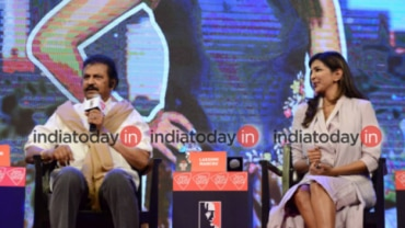 Mohan Babu and Lakshmi Manchu