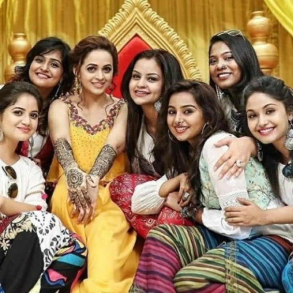 Bhavana with her friends