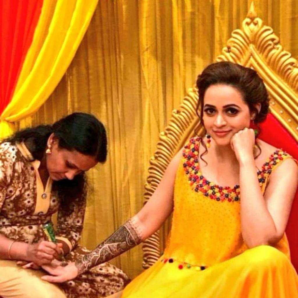 Bhavana with her stylist