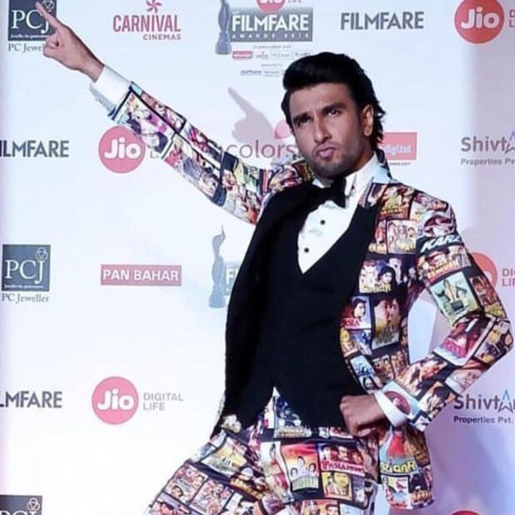 Ranveer Singh never fails to disappoint with his dressing sense, does he?