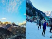 See pics: Snowless slopes in Himachal leave skiers disappointed