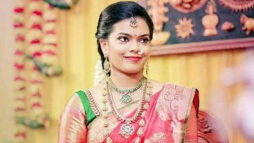 Keerthana at her engagement