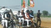 Amit Shah, Manohar Lal Khattar have their 'Biker Boyz' moments at Yuva Hankar Rally in Haryana