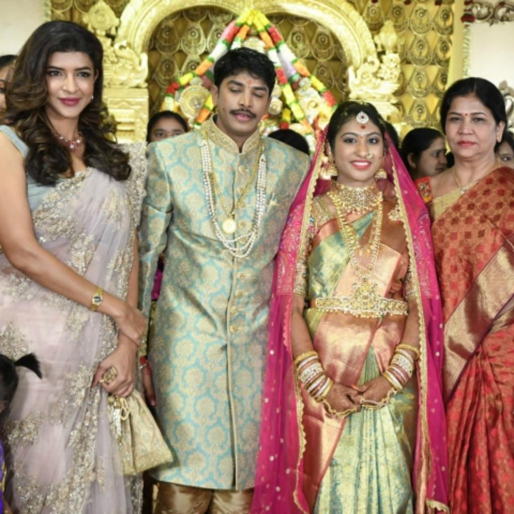 Lakshmi Manchu with producer Kalyan's family