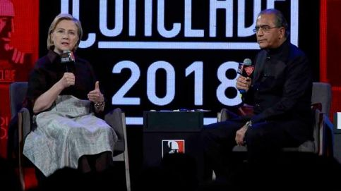 Aroon Purie with Hillary Rodham Clinton