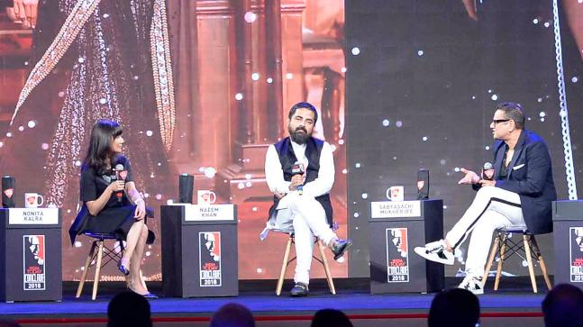 Sabyasachi Mukherjee and Naeem Khan at India Today Conclave 2018. Photo: India Today