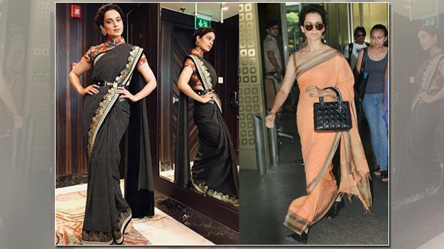 Kangana Ranaut loves wearing sarees.