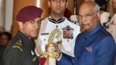 PHOTOS: MS Dhoni, in full army uniform, receives Padma Bhushan from President Ram Nath Kovind