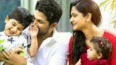 Ayaan, Allu Arjun, Sneha and Arha